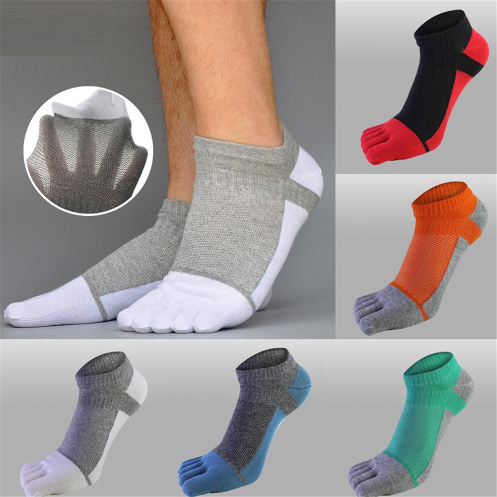 2019 New Socks Crew Mens 1 Pair Men Mesh Sports Running Five Finger Toe Socks Casual Cotton Solid Sock Hot Sale Comfortable