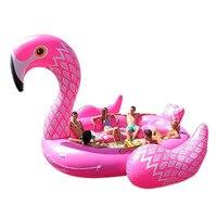 6 человек огромный надувной бассейн Фламинго поплавок 530 см гигантские надувные бассейны остров Lounge вечерние партия игрушки, HA104