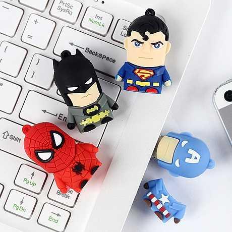 2.0 32 جيجابايت 64 جيجابايت المنتقمون خارقة USB عصا قلم كارتون محرك باتمان سوبرمان سبايدرمان بندريف 1 تيرا بايت 2 تيرا بايت محرك فلاش usb 128 جيجابايت
