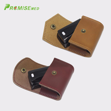 2 PCS Small Carrying Finger Pulse Oximeter Case,Top Mad Cow Leather,Blood Oxygen SPO2 Daily Sports Medical Rate Meter Case