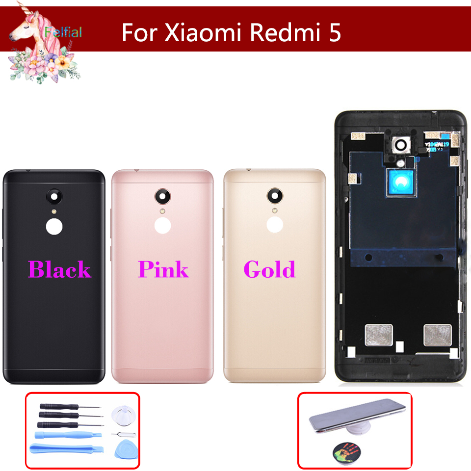 10pcs Battery Cover For Xiaomi Redmi 5 Back Case Redmi5 Housing +Volume buttons + Power Buttons