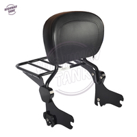 Motorcycle Accessories Detachable Backrest Sissy Bar W Luggage Rack Case For Harley HD Touring Models 1994