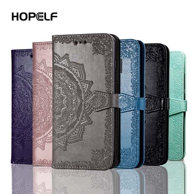 HOPELF لهواوي honor 9 10 لايت حالة غطاء على كوكه فيلب محفظة جلدية ضوء حافظة لهاتف Huawei honor 9 10 لايت الهاتف حالات