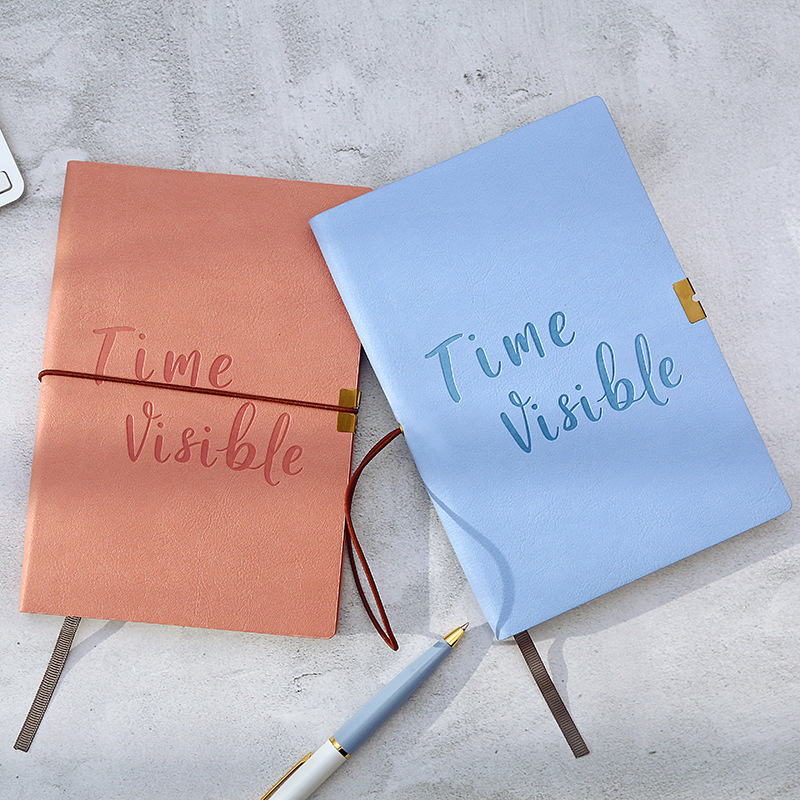Dot Grid Elastic Band Soft Cover Bullet Notebook Creative Cute Simple Fashion Dotted Journal Bujo