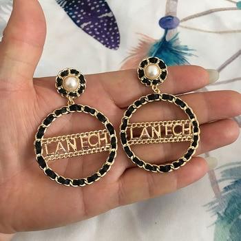22a24d92c1d3 2019 nuevo diseño Oobellen BrandEarrings caída Pendientes para las mujeres  de moda Pendientes grandes Pendientes de botón Pendientes bodas joyería de  ...