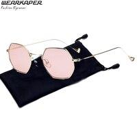 WEARKAPER Small Square Sunglasses Women Men Brand Designer Sun Glasses For Women Lady Sunglass Female Mirror