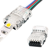 5pcs/lot 2pin 3pin 4pin 5pin LED Strip Connector for Single RGB RGBW Color 3528 5050 to Wire Connection Use Terminals