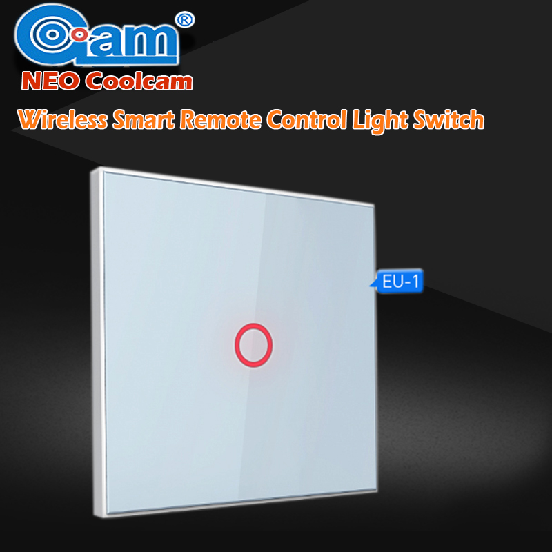 NEO COOLCAM US 1 Gang Smart Home Z-wave Wall Light Switch Home Automation Z Wave Wireless Smart Remote Control Light Switch smart home us black 1 gang touch switch screen wireless remote control wall light touch switch control with crystal glass panel