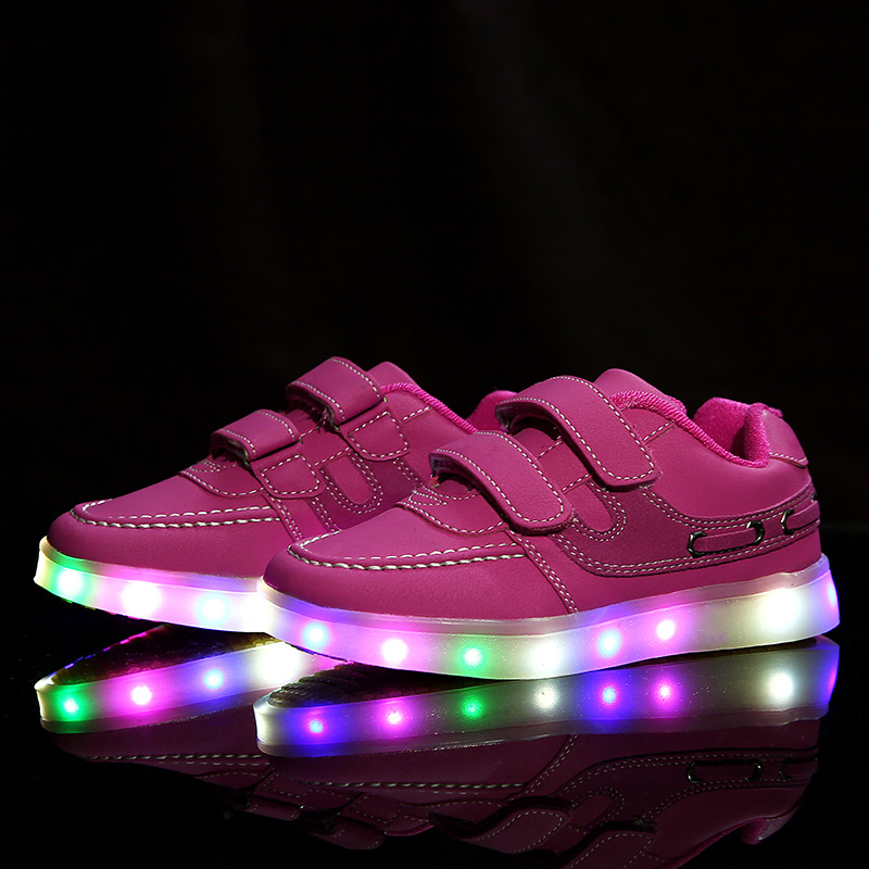 Children Led Light Shoes Child Baby Brand Usb Charging Luminous Sneakers Fashion Boy Girl Wings Sports Shoes Size 25-37