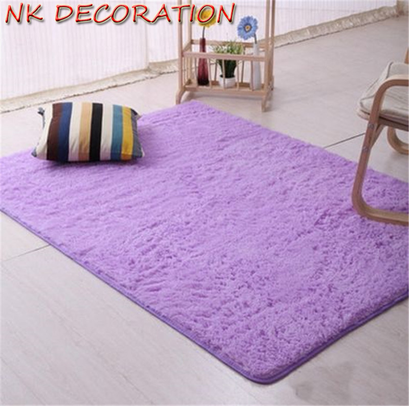 Great NK 40*60cm Purple Plush Shaggy Soft Carpet Area Rugs Not Non Slip Floor