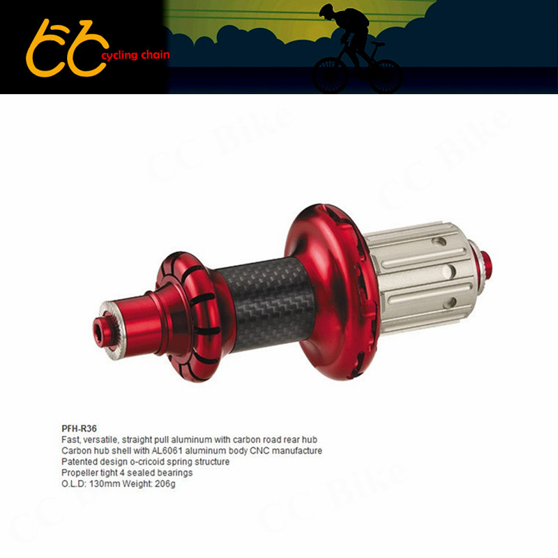 Powerway R36 light aluminum carbon road bicycle bearing hubs 20/24H 16/20H 18/21H G3 straight pull front & rear bike part