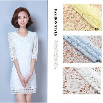 Stretch Water-Soluble Lace Fabric Multicolor by the Yard Wholesale the Cloth for Curtains Wedding Dress DIY Patches Home Decor