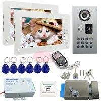 Video Intercom With Electric Lock IP65 Waterproof Door Phone Intercom+Wireless Remote Control Security Camera Monitoring System