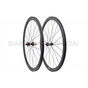 Image 4 - Disc brake full carbon wheels with Novatec D411SB D412SB straight pull hub disc carbon wheels 30mm 35mm 38mm 45mm 50mm 55mm 60mm