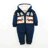 2015 Hot Fashion Newborn One Piece Baby Boy Clothes Kids Long Sleeve Winter Baby Rompers Infant