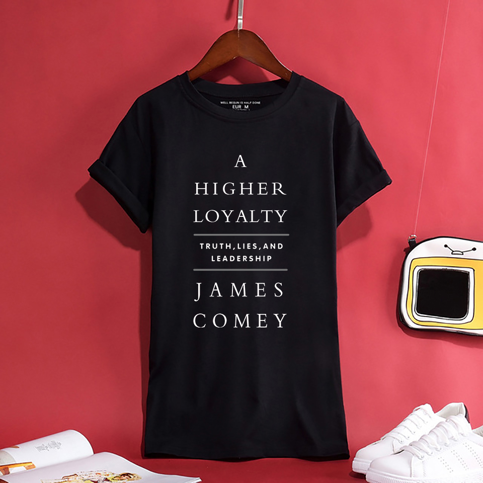 Hot Trendy A HIGHER LOYALTY JAMES COME Letter Women/Men T-Shirt Summer Swag Breathable Tops 100%Cotton Comfortable Unisex Tees