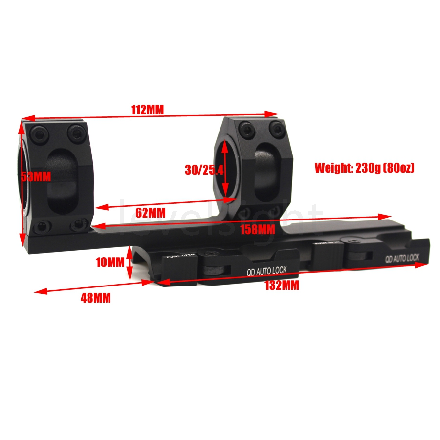 Hunting Scope Mounts 25.4mm 30mm Weaver Picatinny Rings Extended Cantilever QD Mounts Bases With Auto Lock Tactical Ring tactical quick release scope ring mount 25mm 30mm dual ring qd auto lock picatinny weaver 20mm rail for rifle shotgun