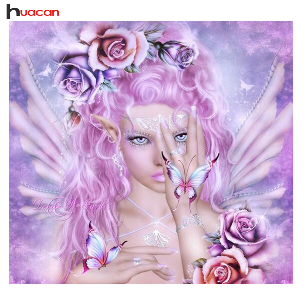 HUACAN Goddess Needlework 5D Diy Diamond Painting for Lucky Home Full Square Crystal Drill Sets Wall Sticker ArtsHUACAN Goddess Needlework 5D Diy Diamond Painting for Lucky Home Full Square Crystal Drill Sets Wall Sticker Arts