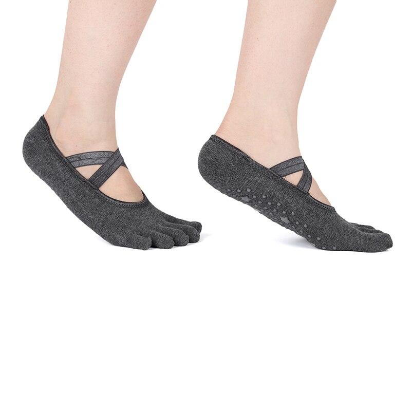 2019 Women Anti-Slip Socks Five Fingers Yoga//Dance Cotton Gym Sports 4 Colors