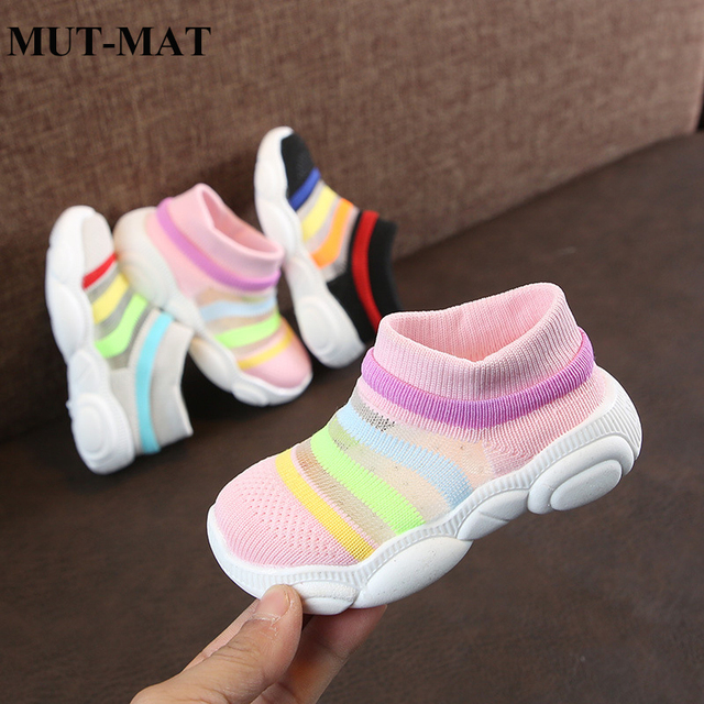 Children's socks shoes girls baby shoes breathable mesh knitted  boys baby soft bottom toddler shoes