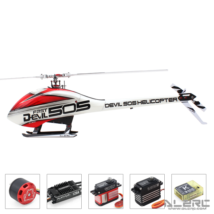 ALZRC Diable 505 RAPIDE hélicoptère rc Super Combo Hobbywing-Pentium-120A V4 ESC En magasin