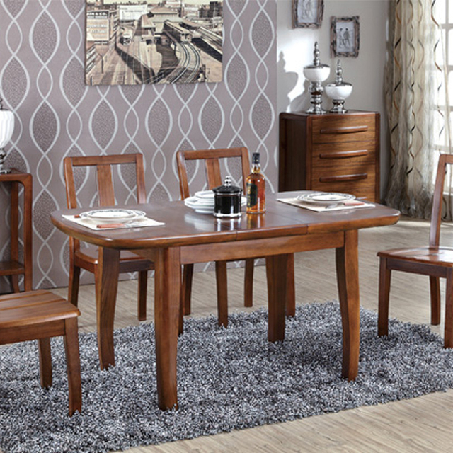 Good Comrade Round The Corner Wood Folding Retractable Table New Chinese Dinner  Table, Dinner Table