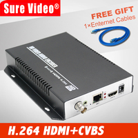 Лидер продаж CVBS и HDMI encoder + аудио по IP поток MPEG4/H.264 кодер Wi Fi для Live Streaming IPTV вещания
