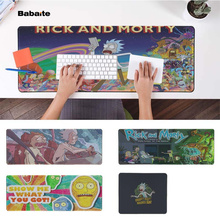 Babaite Personalized Cool Fashion Rick And Morty  Office Mice Gamer Soft Mouse Pad Rubber PC Computer Gaming mousepad