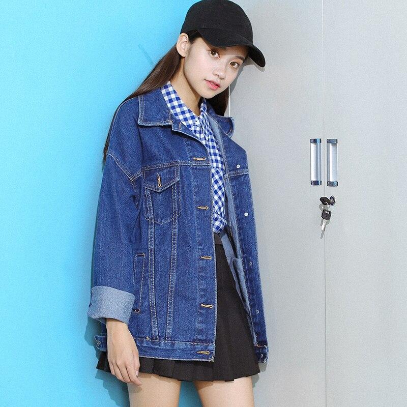 2018 Women Basic Coat Denim Jacket Women Winter Denim Jacket For