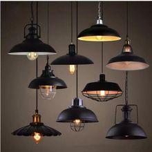 Lámpara colgante Retro Led de hierro forjado para interiores, lámpara colgante vintage, barra Industrial para Bar, lámpara colgante de Metal