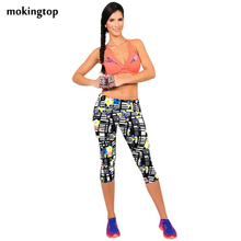 mokingtop Leggings Summer Women High Waist Elastic Fitness