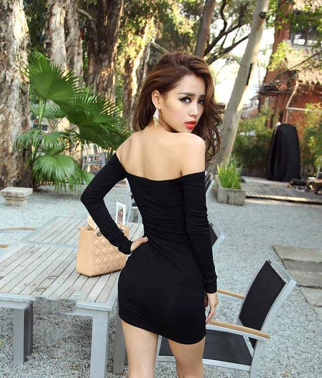 Strapless Black Club Dress Tumblr