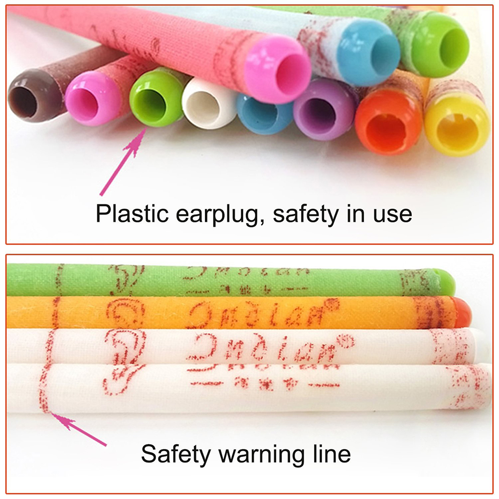 10Pcs/Set Ear Candle Earwax Candles Hollow Blend Cones Care Healthy Beeswax Ear Nose Dust Cleaning Natural Aromatherapy BTZ1 3