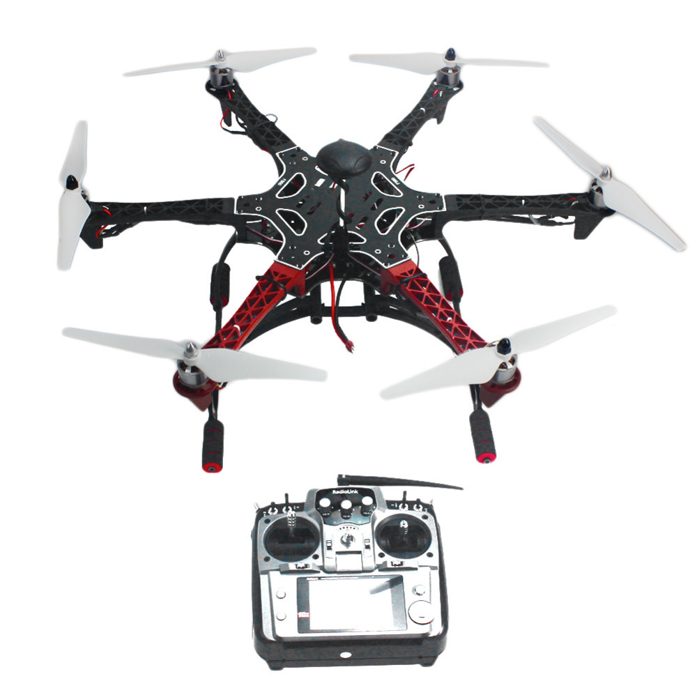 RC Aircraft Hexacopter Helicopter ARF Drone with AT10 TX/RX 550 Frame GPS APM2.8 Flight Controller No Battery   F05114-AR drone with camera rc plane qav 250 carbon frame f3 flight controller emax rs2205 2300kv motor fiber mini quadcopter