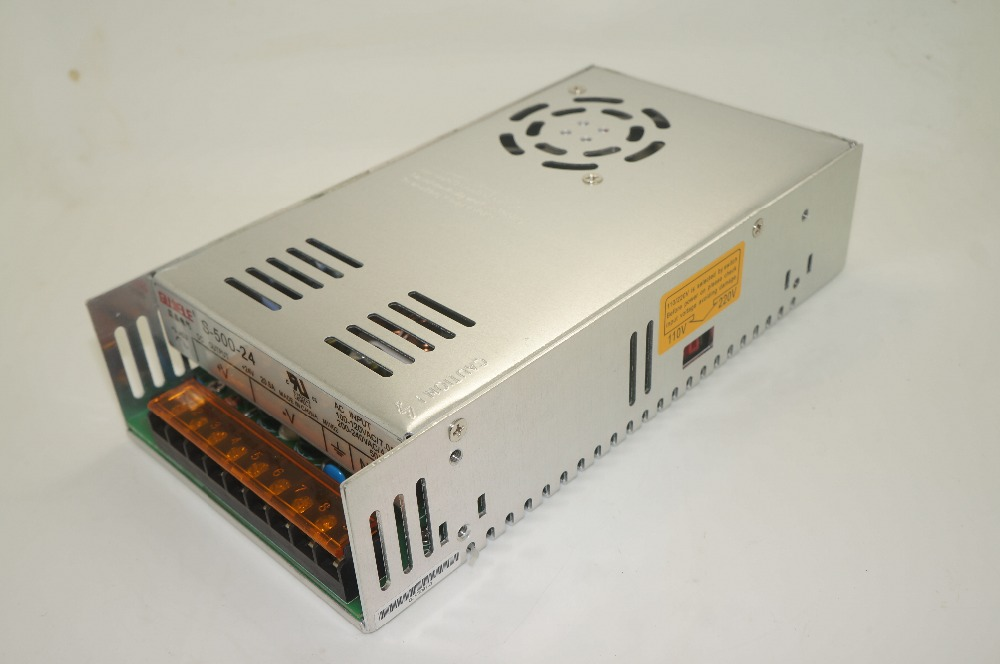 все цены на S-500-24 500W 24V 20A MINI Single Output Switching power supply for LED Strip light AC-DC онлайн