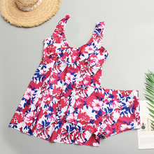A&J 2019 size Bquini Women Print Big Cup bikini set Fold bathing suit Bandage XL-4XL CQ