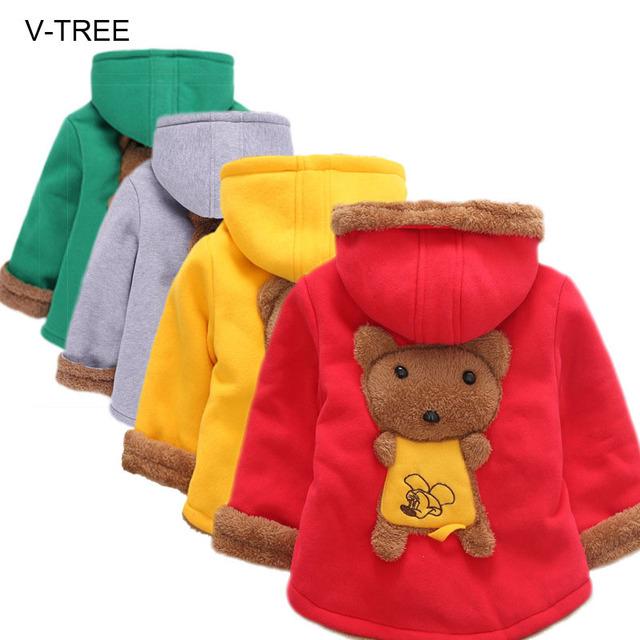 Otoño e invierno los niños y niñas, además de terciopelo engrosamiento de los niños capa Del Bebé ropa de Bebé ropa para niños niñas
