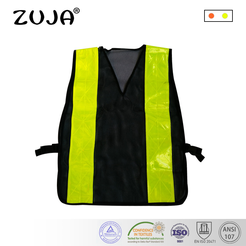 Workplace Safety Supplies Safety Clothing Efficient Reflective Vest Breathable Mesh Multi Pockets Construction Traffic Safety Protective Jacket Fluorescent Clothes Work Clothing