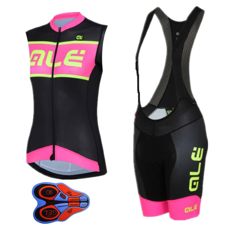 2017  Ropa Ciclismo Cycling Clothing Women Style Summer Breathable Mtb Cycling Jersey bib shorts Bicycle sleeveless vest