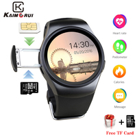 Kaimorui KW18 Bluetooth Smart Watch Support SIM Card Original Men Business SmartWatch with Heart Rate For