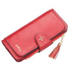купить Brand Leather Women Wallets High Quality Designer Zipper Long Wallet Women Card Holder Ladies Purse Money Bag Carteira Feminina по цене 248.81 рублей