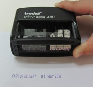 Image 3 - Trodat 4817ตอบBACKORDERED CANCELLEDเรียกเก็บเงินได้รับE MAILEDตรวจสอบป้อนจ่ายจัดส่งจัดส่งแฟกซ์ประทับวันที่