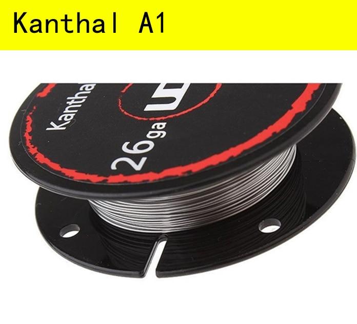 Original UD Youde Kanthal A1 heating wire resistance vape coil kanthal a1 30 Feet AWG 20 22 24 26 28 30 32 Gauge
