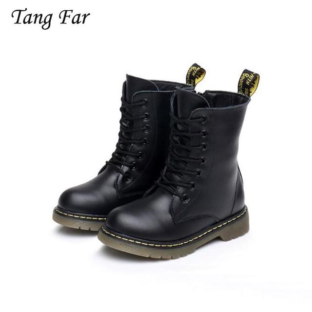 8a67cee2b Kids Girls Boots Warm Winter Fur Genuine Leather Waterproof Boots ...