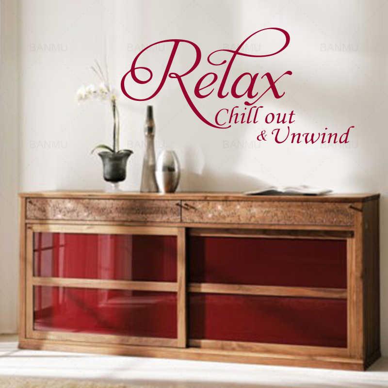 Einfache vinyl kunst wand aufkleber entspannen kunst brief für schlafzimmer bad wand dekorationen wohnzimmer