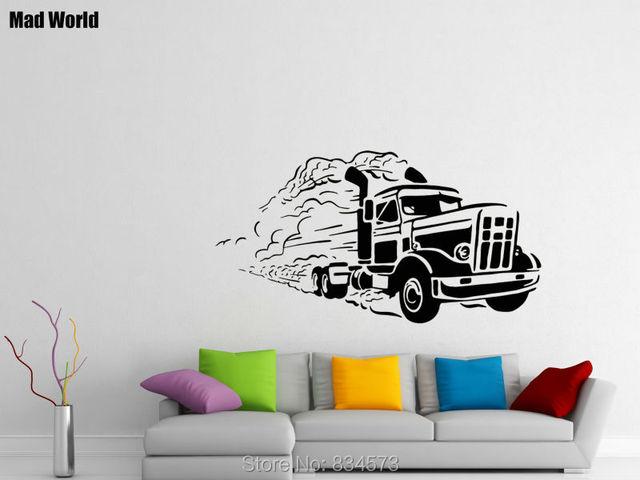 Lkw Garage Dekoration : Mad welt auto lkw trucker große garage wandkunst aufkleber
