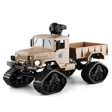 FY FAYEE Fy001 1/16 2.4G 4Wd Rc Car 720P 0.3Mp camera Wifi Fpv Brushed Off-Road Military Truck W/ Led Light