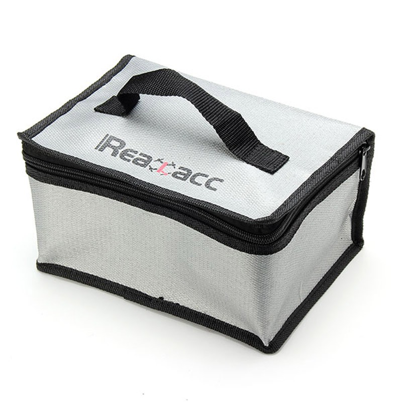 Realacc Fire Retardant Lipo Battery Bag(220x155x115mm)With Handle For RC Car Quadcopters Airplane