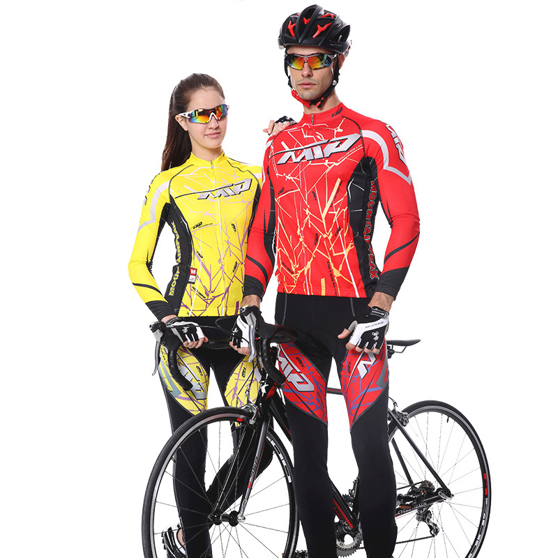 2017 New Spring Long Sleeve Man UV Protect 3D Gel Padded Cycling Jerseys Mountain Bike Breathable Quick Dry Riding Clothing Sets