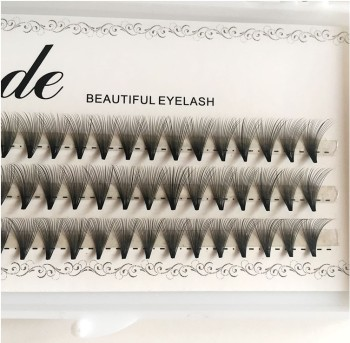 HBZGTLAD 6/10/20D Natrual faux mink hair silk lashes 0.07 thickness eyelash extensions false mink eyelash extensions fake lashes 1